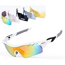 XIAOKEAI Gafas De Sol Polarizadas Deportivas, UV 400 ProteccióN Gafas Deportivas Viene con 5 Juegos