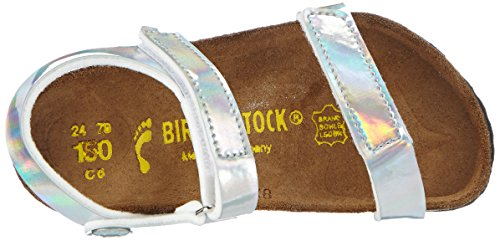 Birkenstock Kids  YALA, Sandales pour fille Argent - Silber (MIRROR SILVER)