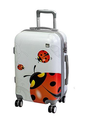 Valigia cabina A2S leggera e resistente valigia rigida con 8 ruote filanti borsa da trasporto (aeroplani) Coccinella 55x35x20cm