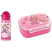 Sigikid Brotdose 24472 und Trinkflasche Pinky Queeny 24482 Geschenkset für Kindergartenkinder oder ABC Schützen - preisvergleich