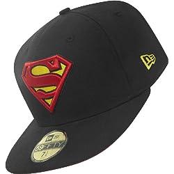 DC COMICS - NEW ERA Gorra de Béisbol SUPERMAN - Basic Badage - 7, Negro, Poliéster