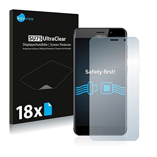 Savvies Schutzfolie kompatibel mit TP-Link Neffos C7 (18 Stück) - ultraklare Bildschirmschutz-Folie