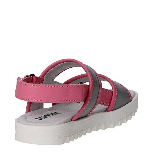 Bikkembergs BKJ103545 Sandale Fille Gris/Rose