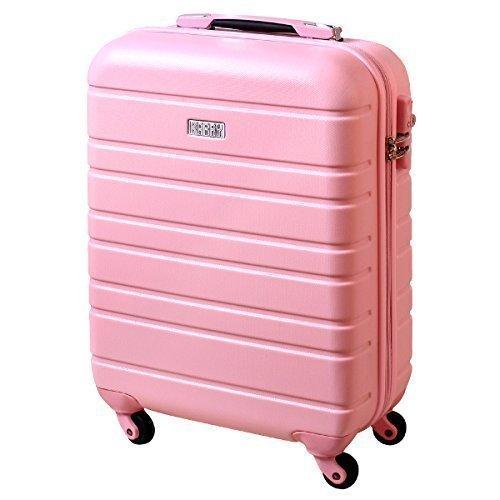 Preisvergleich Produktbild Karry Handgepäck Bordgepäck Hartschalen Koffer für Kurzreisen Urlaub Reisen Businesskoffer Trolley Case TSA Schloss 30 Liter Rosa 815 B