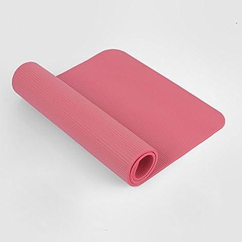 MDRW-Amateurs De Yoga 10Mm Tapis De Pilates Yoga Enfants Débutants Épaississement Anti-Skid Abdominaux Tapis Coussins D'Exercice 122*61Cm Rose Tapis De Yoga