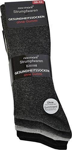 normani 10 Paar Diabetiker Herren Socken ohne Gummi farbig Baumwolle Farbe Baumwolle/Dunkel Größe 47/50 (Diabetiker-socken Für Männer)