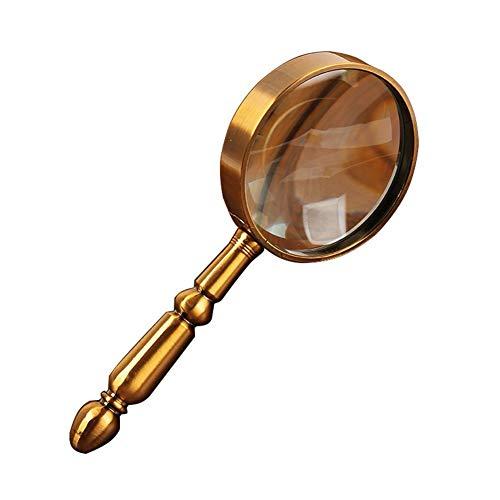 ZDX Jumbo Größe leichte Leselupe Extra große Handlupe Gute Qualität Vergrößerungsglas für Senioren Lesen Inspektion Hobby Handwerk Uhrmacher Münzen Briefmarken Antiquitäten Schmuck