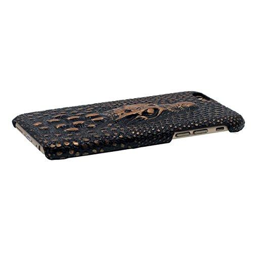 """iPhone 7 Coque Dur Case Fine Mince Style Poids léger, Etui Apple iPhone 7 4.7"""", 3D Lifelike Crocodile Relief Anti Choc Housse de Protection pour iPhone 7 Or"""