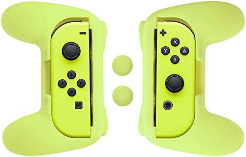 AmazonBasics - Kit di impugnature per controller Joy-Con Nintendo Switch - Giallo fluorescente