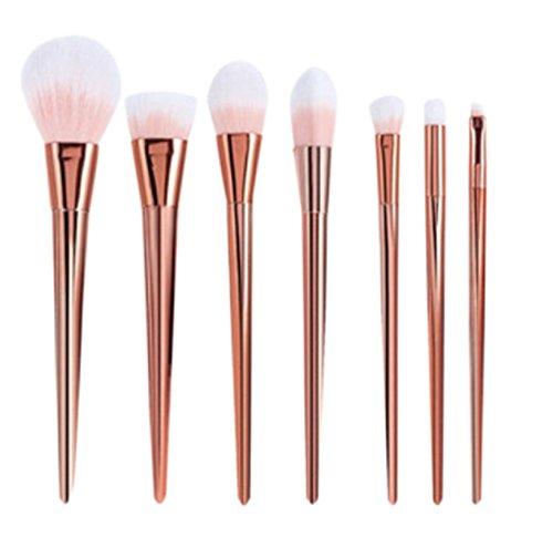 Dosige 7 pcs Set Multifonctionnel Pinceaux Professionnel Pinceaux de Maquillage Yeux Brosse de Brush Cosmétique Professionnel - Poudre d'or Brillant