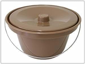 Toilettenstuhleimer Braun, universal *Top Qualität zum Top Preis*