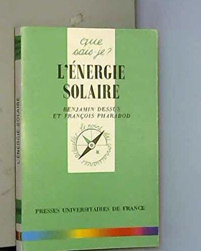 L'Energie solaire