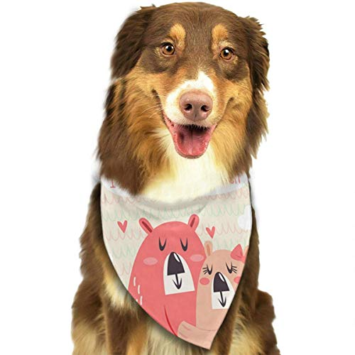 o Bears Pet Bandana Washable Reversible Triangle Bibs Scarf - Kerchief for Small/Medium/Large Dogs & Cats ()