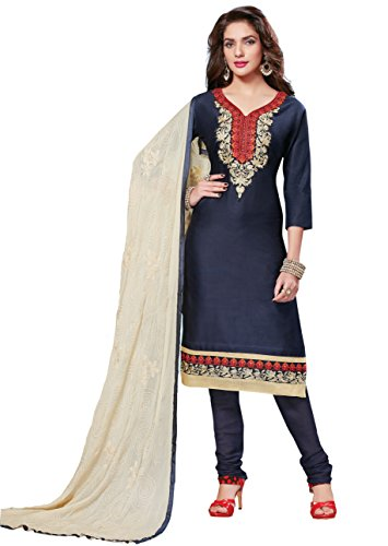 Oomph! Women's Unstitched Salwar Suit Dupatta/Cotton Salwar Suit/Embroidered Dress Material,
