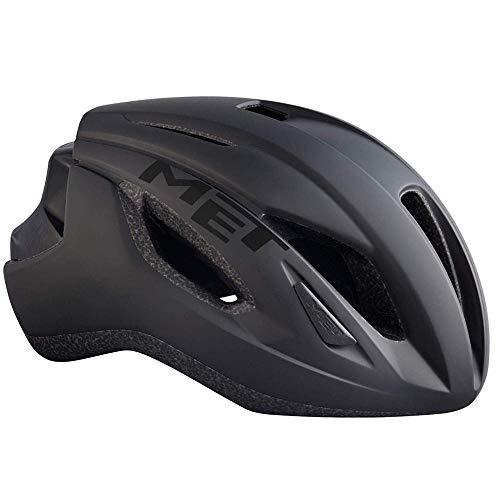 MET Strale Fahrrad Helm Rennrad Komfort Style MBT Road Bike Belüftet Rad Sport Inmould, 570014, Farbe Schwarz, Größe S -