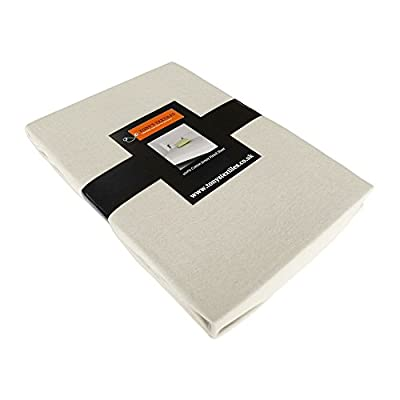 Jersey 100% Cotton Fitted Sheet Cream - low-cost UK light store.