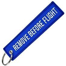Llavero Remove Before Flight Azul y Blanco