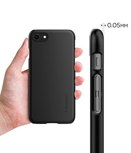 iPhone 8 Hülle, Spigen® [Thin Fit] Passgenau [Schwarz] Slim Hart PC Hardcase Schale Schlanke Handyhülle Schmal Schutzhülle für Apple iPhone 8 Case Cover - Black (054CS22208) TF Schwarz