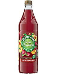Robinsons Fruit Creations Delicious Peach & Raspberry No Added Sugar, 1 L
