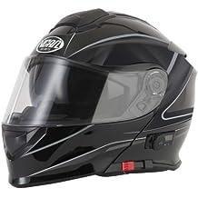 VCAN V271Lightning Modular para motocicleta Flip Up de Bluetooth Casco