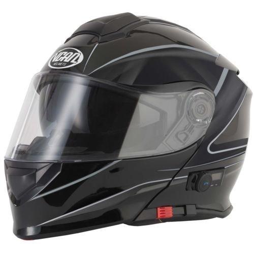 VCAN V271Lightning Modular Motorrad Motorrad Bluetooth Flip Up Helm