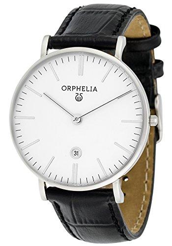 Orphelia - 61506 - Montre Homme - Quartz - Analogique - Bracelet cuir noir
