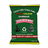 #4: Giftscolour Garbage Bags Size Large 25 Inch X 30 Inch (Black) Pack of 6 (90 Bags)(Trash Bag/Dustbin Bag)