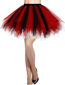 Dresstells reg;Mujeres Fladas Enaguas Cortas Tul Plisada Fiesta Vintage Retro Ballet