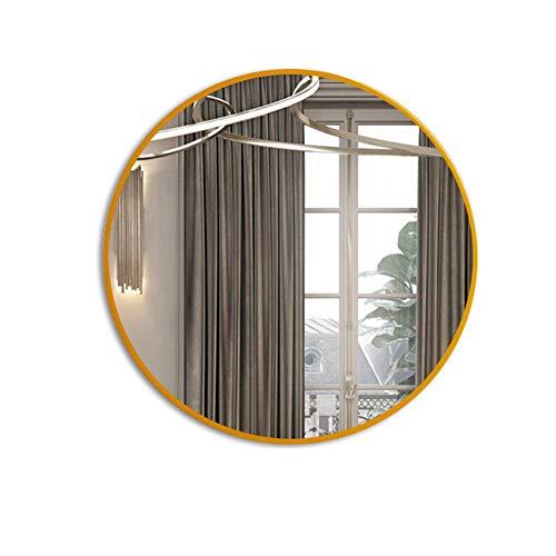 ⛪LDJ Espejo de baño de Hierro Forjado Redondo Nordic Home Colgante de Pared Espejo de vanidad Espejo...