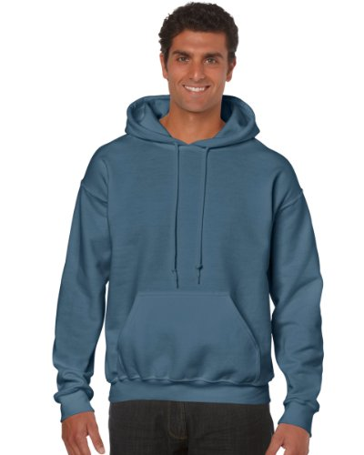 Gildan Heavy Blend Adult Hood, Felpa Uomo Blue (Inidgo Blue )