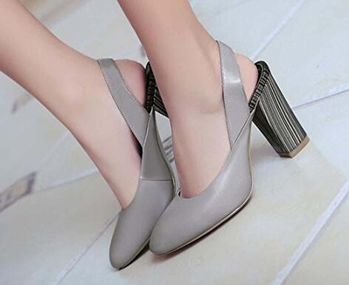 Beauqueen Pumps Sommer Frauen Spitz-Toe Slingback Chunky Mid Heel Elegante Casual Work Schuhe Europa Standard Größe 34-39 Black