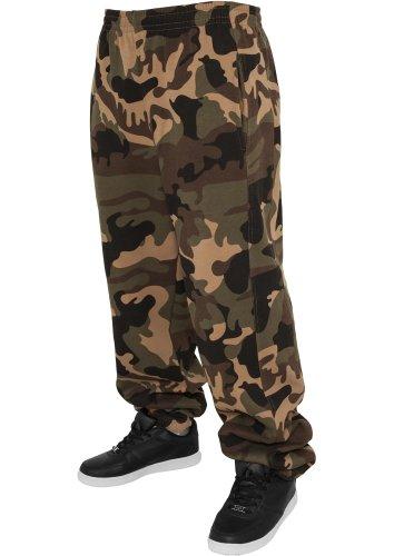 Urban Classics TB580 Camo Sweat Pant Pantalone Tuta Uomo Urban Fit Mimetico S