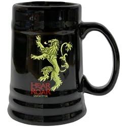Juego de Tronos - Jarra de cerámica diseño Lannister, color negro