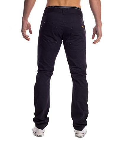 Pantalon Hommes Chino Denton ID 1451 Five Pocket Blau
