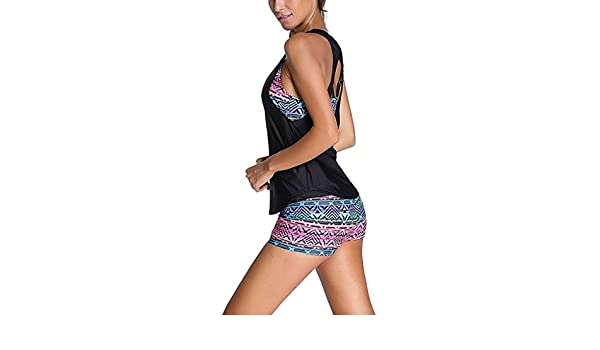 Nergivep Womens Swimsuit Plus Size Boyleg Swimwear Sports