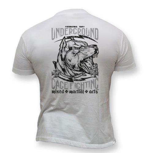 Dirty Ray Kampfsport MMA Underground Cage Fighting Herren Kurzarm T-Shirt K42 (L)