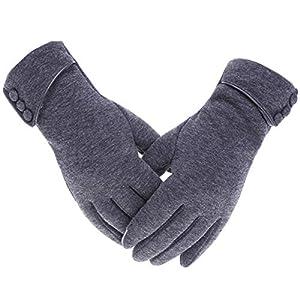 Yunhany Direct warme Handschuhe des Frauenwinters winddichtes Vlies gezeichnetes weiches…