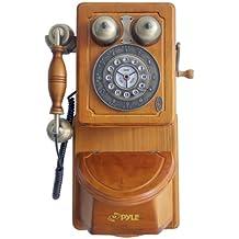 Pyle PRT45 - Teléfono para montar en pared, diseño retro estadounidense (importado)