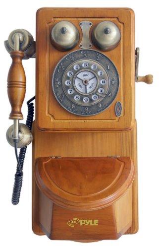 PYLE PRT45 - TELEFONO PARA MONTAR EN PARED  DISEñO RETRO ESTADOUNIDENSE (IMPORTADO)