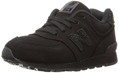 New Balance Unisex-Kinder Kl574wtg M Sneakers Multicolor (Black/Black (Ec))