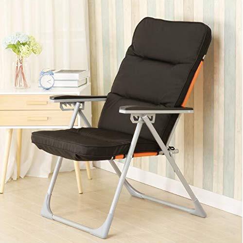 Stühle XUERUI Klappstühle Klappstuhl Einfaches Modernes Zuhause Multifunktions-Lounge-Sessel Bürostuhl Nap Mit Fußstütze Klappstuhl Strandkörbe Sessel (Color : D)