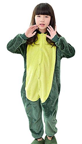 (KSFJV Unisex-Kind Onesie,grüner Dinosaurier,115cm)