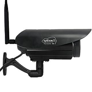 upCam Tornado HD S - IP Kamera mit Nachtsicht Wetterfest/Frost-Sicher! (Full HD 1920x1080, WLAN, App, SD Karte, Cloud, Weitwinkel Objektiv, Outdoor IP Cam) - Deutscher Hersteller und Support