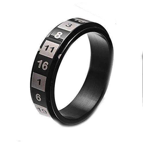 Wind Goal Arabische Zahl Glück Ring Band Für Männer Frauen Edelstahl Drehbare Digitale Muster Ring Band Liebhaber Paar Versprechen Ringe