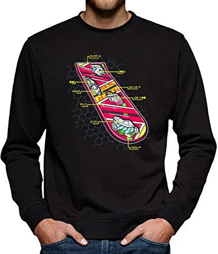 Hoverboard Skateboard Sweatshirt Pullover Herren XXL Schwarz