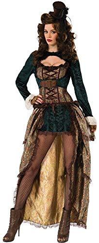 Forum Novelties X75015 75015 Madame Steampunk Kostüm, Mehrfarbig, UK-Größe 10-12