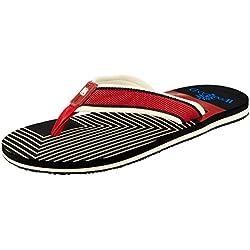 Woodland Men's Black Flip Flops Thong Sandals - 11 UK/India (45 EU)