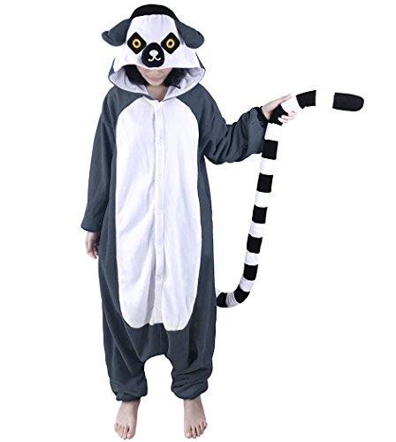 wotogold Tier Lemur Pyjama Unisex Erwachsene Cosplay Kostüme Grau (Lemur Kostüm Kind)