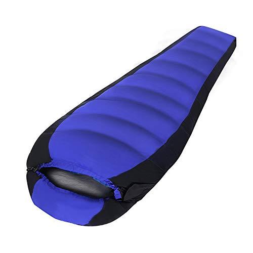 JHDUID sobre de Sacos de Dormir, Viajes, Mochileros, Senderismo, Trekking al Aire Libre - Compacto, Ligero - Incluye Bolsa de compresor Gratis,Blue