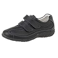 4ec2d17379d Womens Ladies Extra Wide EEE Fit Velcro Leather Casual Shoes .
